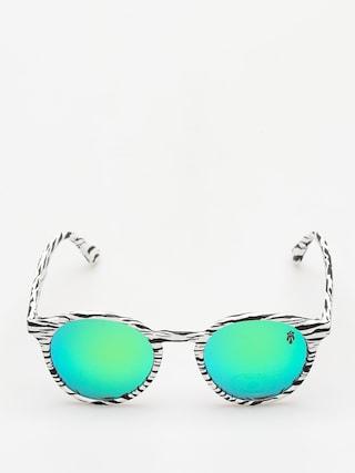 Sluneční brýle Majesty Lynx (zebra/green mirror lens)