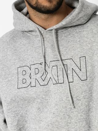 Mikina s kapucí Brixton Edison HD (heather grey)