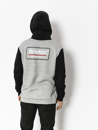 Mikina s kapucí Brixton Palmer Intl HD (heather grey/black)
