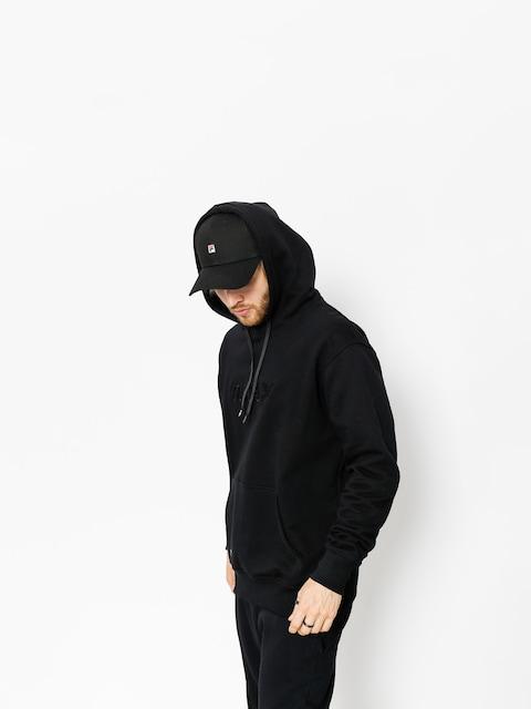 Mikina s kapucí Nervous Lace HD (black)