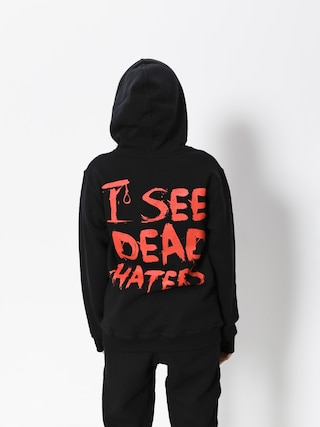 Mikina s kapucí Diamante Wear I See Dead Haters HD (black/red)