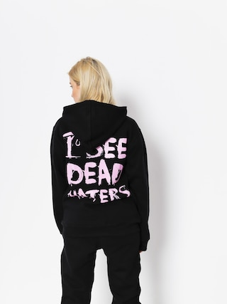 Mikina s kapucí Diamante Wear I See Dead Haters HD (black/pink)