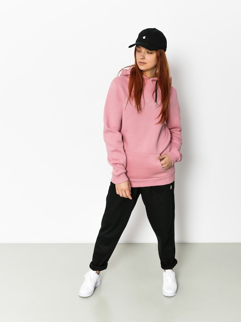Mikina s kapucí Hype Embroidered HD Wmn (pink/pink)