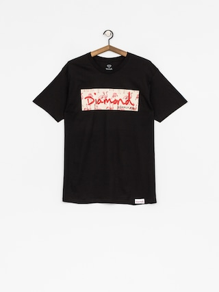 Tričko Diamond Supply Co. Flamingo Box Logo (black)