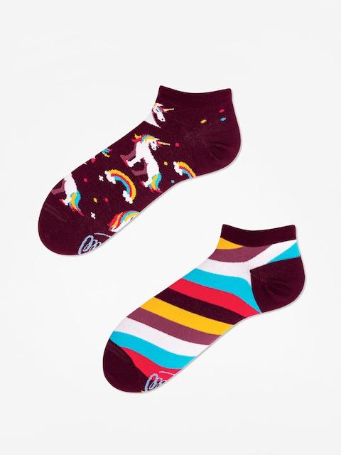 Ponožky Many Mornings The Unicorn Low (burgundy)