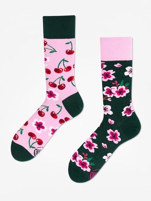 Ponožky Many Mornings Cherry Blossom (pink/green)