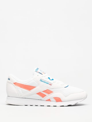 Boty Reebok Cl Nylon M Txt Wmn (retro white/digital pink/instince blue)