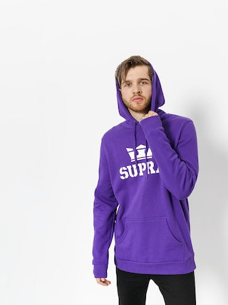 Mikina s kapucí Supra Above HD (purple/white white)