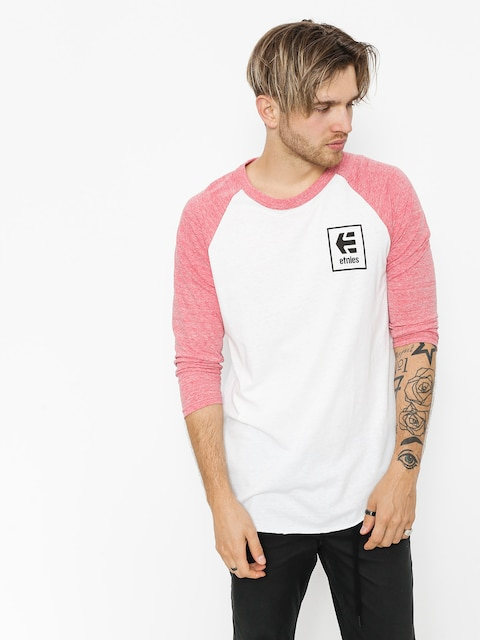 Tričko Etnies Stack Box Raglan (red/white)