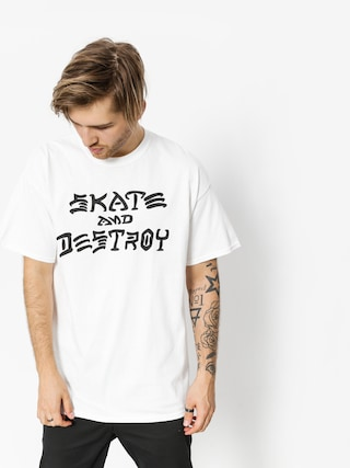 Thrasher Triu010dko Skate And Destroy (white)