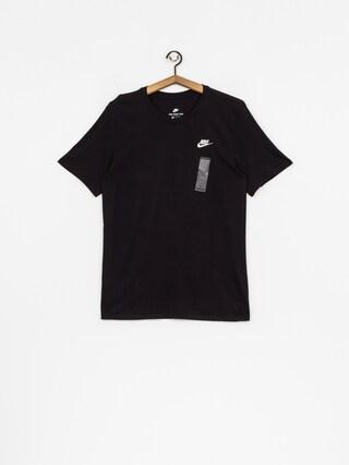 Tričko Nike Tee Club Embrd Ftra (black/white)