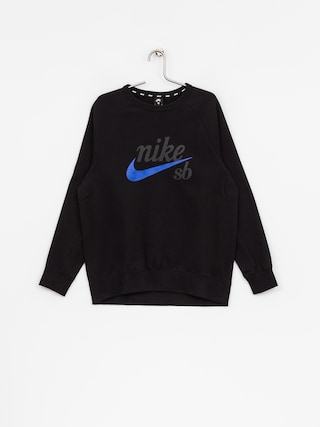 Mikina Nike SB Sb Top Icon Crw Gfx Hrtg (black/hyper royal)