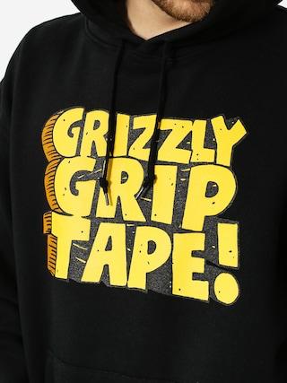 Mikina s kapucí Grizzly Griptape Nostalgic HD (black)