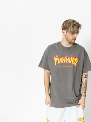 Triu010dko Thrasher Flame Logo (charcoal grey)