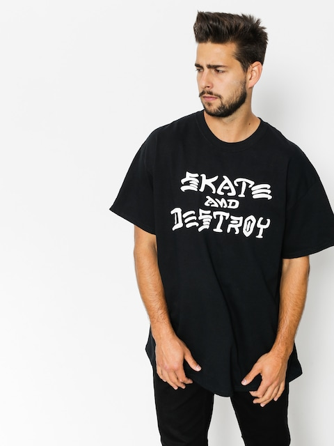 Thrasher Tričko Skate And Destroy (black)
