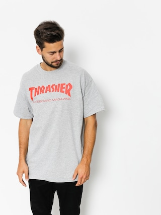 Thrasher Tričko Skate Mag (grey/red)