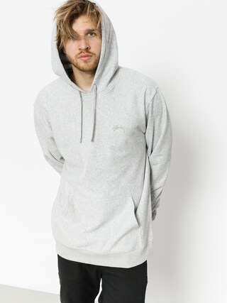 Mikina s kapucí Stussy Stock Terry HD (grey heather)