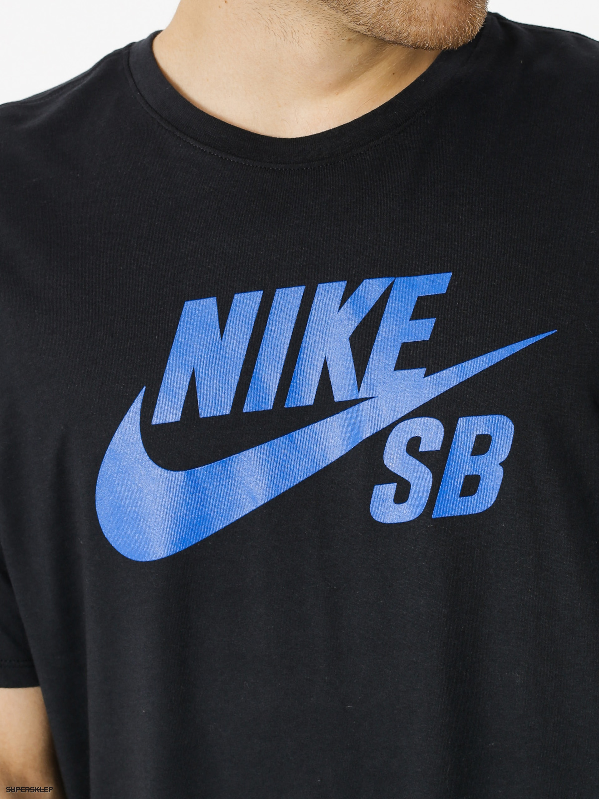 cc3e00d500d0 Tričko Nike SB Sb Logo (black hyper royal)