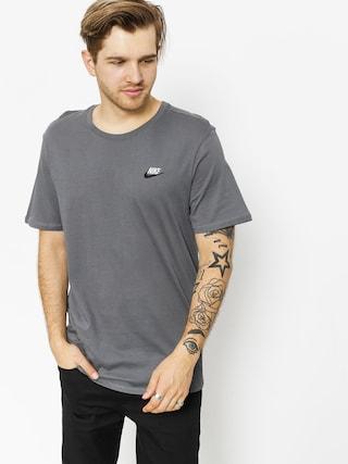 Tričko Nike Tee Club Embrd Ftra (dark grey/black)
