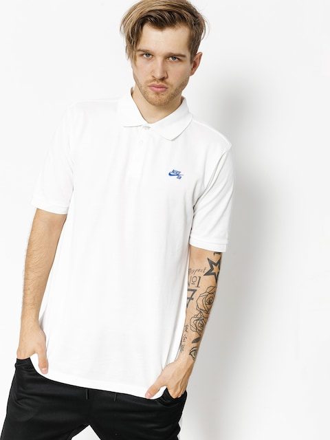 Polo Nike SB Sb Dri Fit Pique (white/hyper royal)