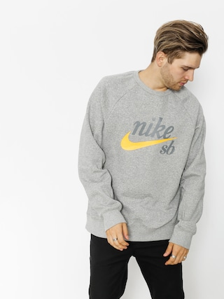 Mikina Nike SB Sb Top Icon Crw Gfx Hrtg (dk grey heather/laser orange)