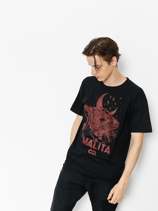 Tričko Malita Red Wolf (black)