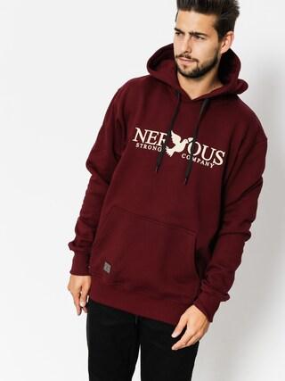 Mikina s kapucí Nervous Classic HD (maroon)
