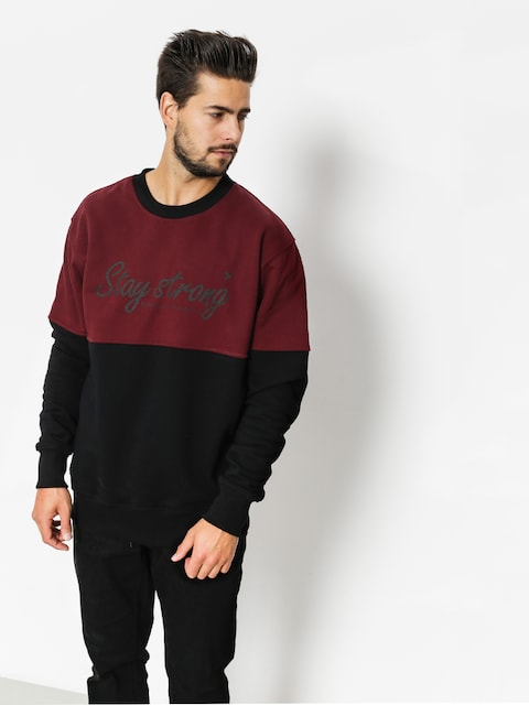 Mikina Nervous Stay (black maroon)