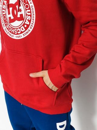 Mikina s kapucí DC Circle Star HD (tango red)