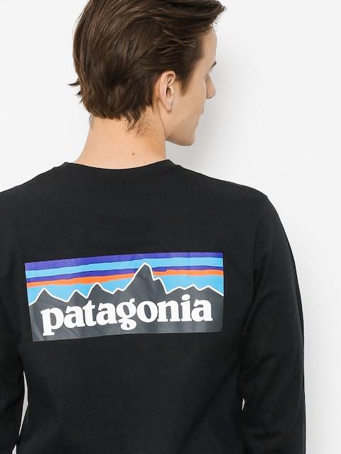 Triko Patagonia Logo Responsibili (black)