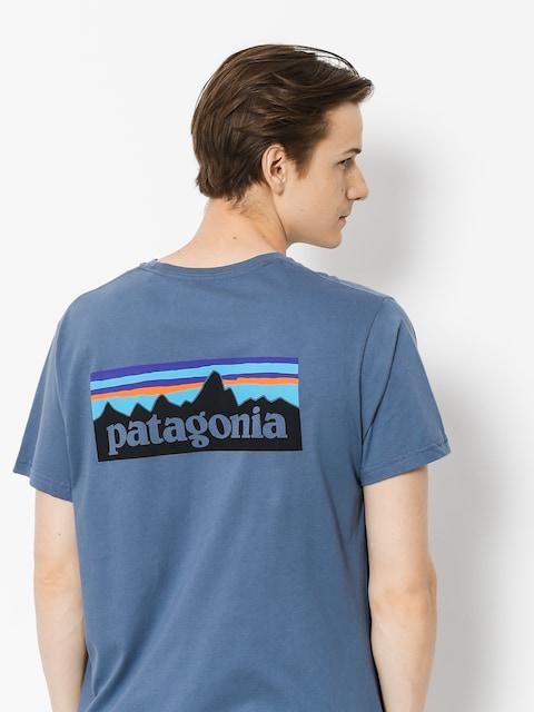 Tričko Patagonia Logo Organic (dolomite blue)