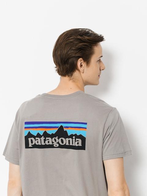 Tričko Patagonia Logo Organic (feather grey)