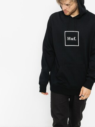 Mikina s kapucí HUF Box Logo HD (black)
