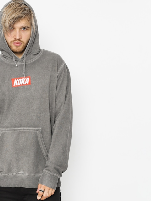 Mikina s kapucí Koka Mini Boxlogo Prewashed HD (grey)