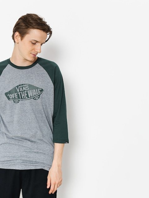 Tričko Vans Otw Raglan (heather grey/darkest spruce)