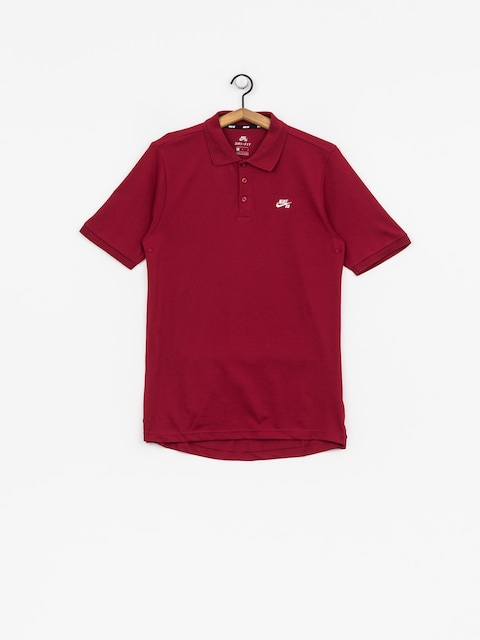 Polo tričko Nike SB Sb Dri Fit Pique (red crush/white)