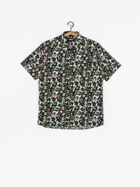 Košile RipNDip Nerm Flower Button Up (black)