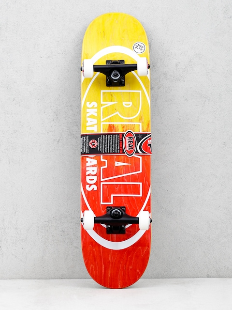 Skateboard Real Metallic Oval Fades (yellow/red)