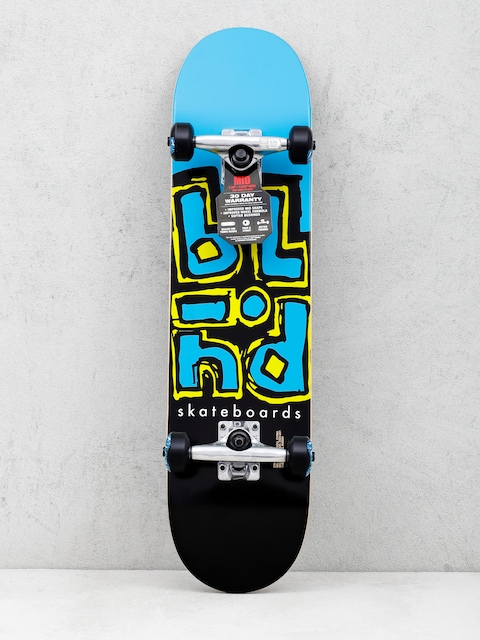 Skateboard Blind Jumbled Split (cyan/black)