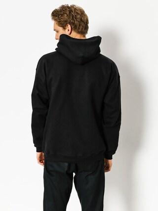 Mikina s kapucí Thrasher Flame HD (black)
