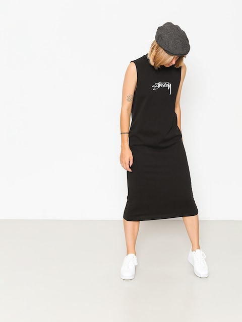 Šaty  Stussy Ezra Muscle Dress Wmn (black)