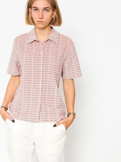 Košile Stussy Eva Printed Corduroy Wmn (pink)