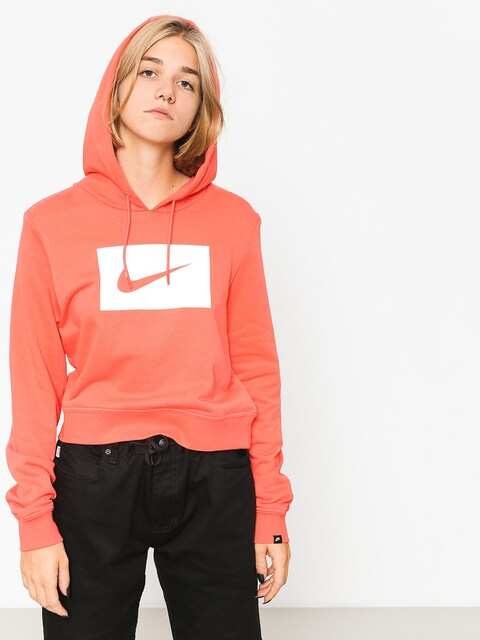 Mikina s kapucí Nike Hoodie Swsh HD Wmn (rush coral/white)
