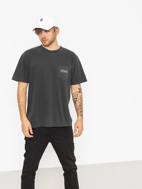 Tričko Stussy Trucker Pig Dyed Pocket (black)