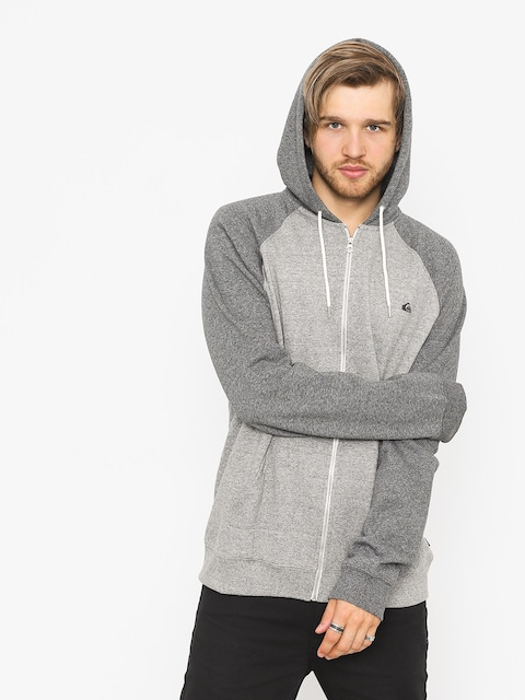 Mikina s kapucí Quiksilver Everyday ZHD (light grey heather)