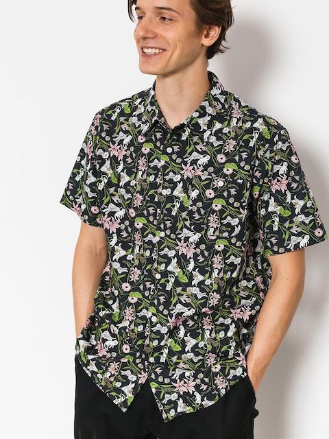 Košile RipNDip Nerm Flower Button Up (black)
