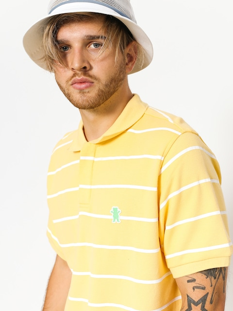 Polo tričko Grizzly Griptape Fairway Striped (yellow)
