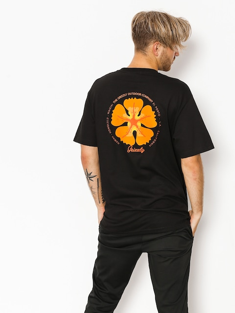 Tričko Grizzly Griptape Coastal Clique (black)