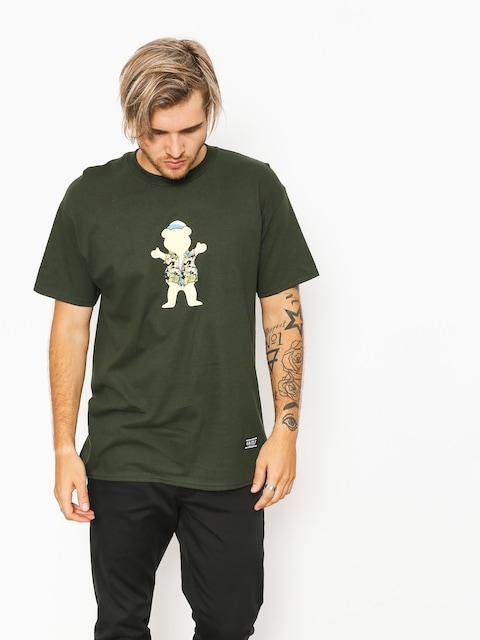 Tričko Grizzly Griptape Whibig Kahuna Og Bear (forest green)
