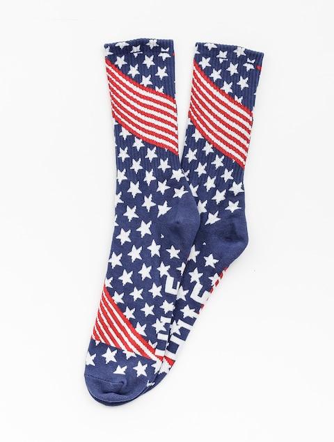 Ponožky HUF Huf Usa (red)